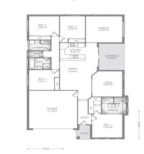 4 bedroom house with ensuite house plans